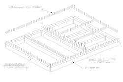 Монтаж нижнего обвязочного бруса