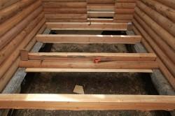 Монтаж лаг в деревянном доме