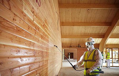 Огнезащитная обработка деревянных кострукций