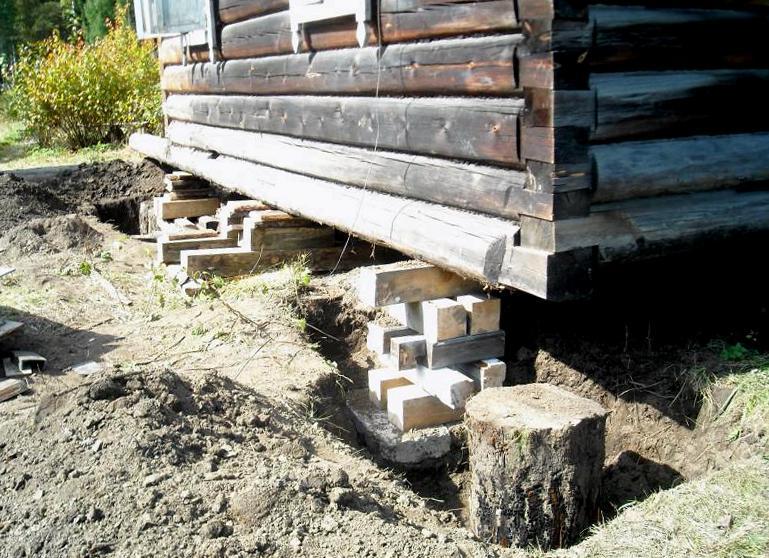 Как поднять дом и сделать фундамент