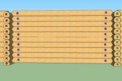 Расположение брёвен в стене сруба