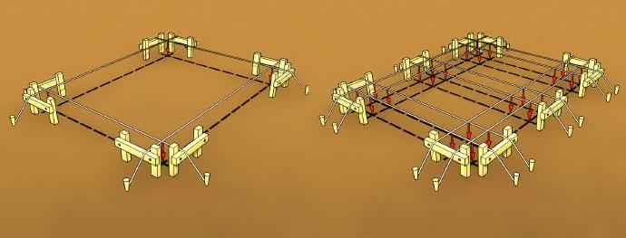 Стяжка шумоизоляцией механизированная с