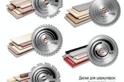 Виды дисков для различных материалов