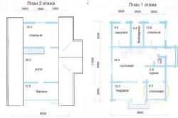 Примерный план дома из оцилиндрованного бруса