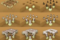 Процесс строительства столбчатого фундамента