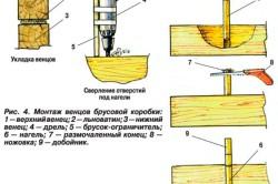 Монтаж венцов брусовой коробки