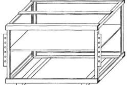 Схема каркаса станины