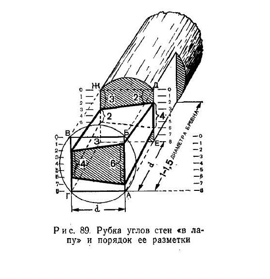 Схема рубки и порядка разметки