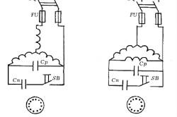 Соединение двигателя с электрической сетью