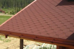 Внешний вид крыши с битумной черепицей