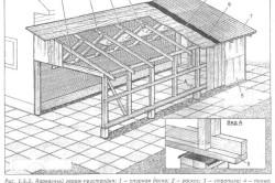 Схема гаража-пристройки