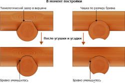 Сравнение канадской и русской рубки