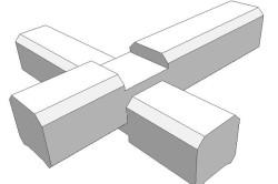 Схема углового соединения брусьев