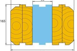 Конструктивная схема теплого бруса