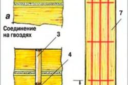 Схема крепления венцов нагелями