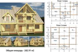 Пример проекта деревянного дома