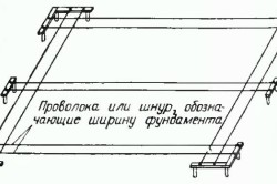 Схема разметки для фундамента.