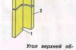 Схема крепления угловых стоек верхней обвязки