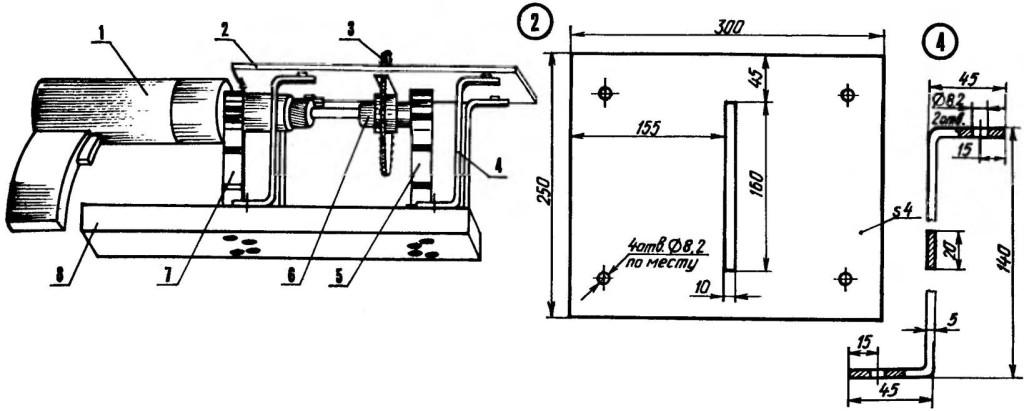 Компоновочная схема дрели-«циркулярки»