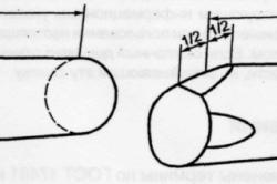 Измерение длины бревна с подпилом или со скосом пролила