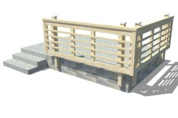 Пристройка к деревянному дому веранды