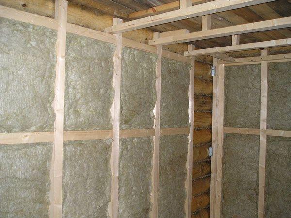 Утепление внутренних стен деревянного дома