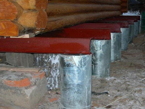 Полная замена фундамента деревянного дома