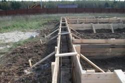 Конструкция опалубки под бетонную основу